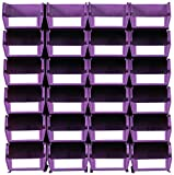 Triton Products LocBin 3-210WOWS Wall Storage Unit with Wall Mount Rails 8-3/4-Inch L Hardware and  Interlocking Poly Bins, 24-Count, Orchid, 26-Piece