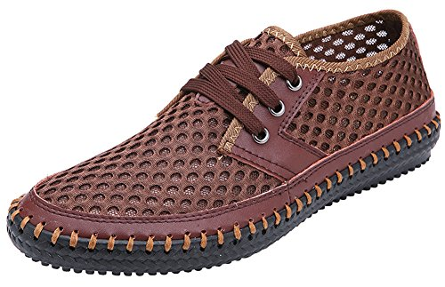 Mohem Mens Poseidon Leather Sandals 16866Brown44