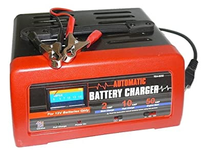 Deep cycle fast charger for 12V 12 volt batteries - 2/10/50 amp charge methods