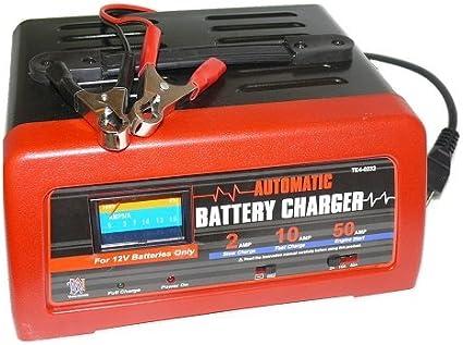 Amazon.com: 10/2/Manual de 50 Amp 12 V Cargador de batería ...