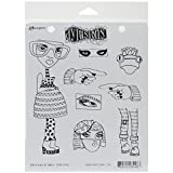 Ranger Dyan Reaveleys Dylusions Cling Stamp Collection Pondering Petunia (8 Pack)