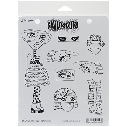 Ranger Dyan Reaveleys Dylusions Cling Stamp Collection Pondering Petunia (6 Pack) by Generic (Image #1)