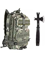 Ultimate Arms Gear Surviaval Combo: 13 Tactical 3 in 1 Mulit-Use Emergency Supply Tool Chop Hatchet Axe + Flat...