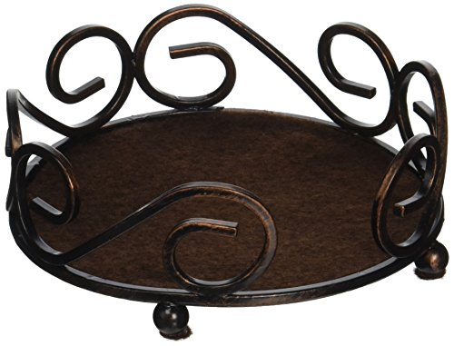 Thirstystone Round Scroll Coaster Holder Fits 4.25 Ceramic, Bronze