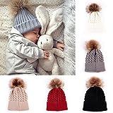 #10: oenbopo Baby Winter Warm Knit Hat Infant Toddler Kid Crochet Hairball Beanie Cap
