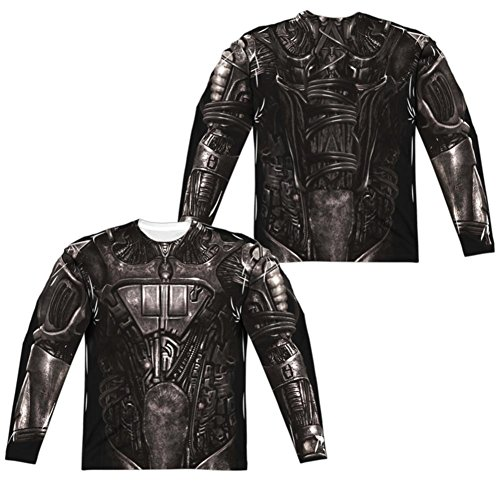Long Sleeve: Star Trek- Borg Costume Tee (Front/Back) Longsleeve Shirt Size L - Borg Costume Star Trek