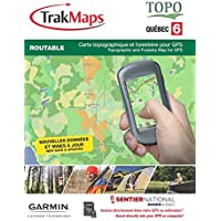 TrakMaps TOPO Quebec 6 Map for Garmin GPS with Crown Land, National Trail in Quebec, Forestry Layer & Back Roads