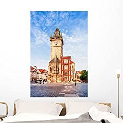 Old Town City Hall Wall Mural by Wallmonkeys Peel and Stick Graphic (48 in H x 32 in W) WM368511