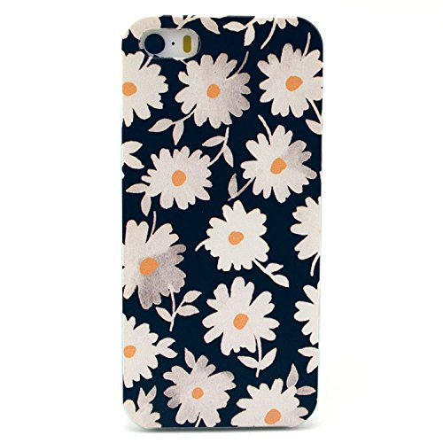 EVERMARKET(TM) iPhone SE/5/5S TPU Case, Flower Floral Beautiful Pattern Soft Rubber TPU Case Cover and 1 Stylus Pen for Apple iPhone SE and 5/5S - Case Phone Stylus Clear