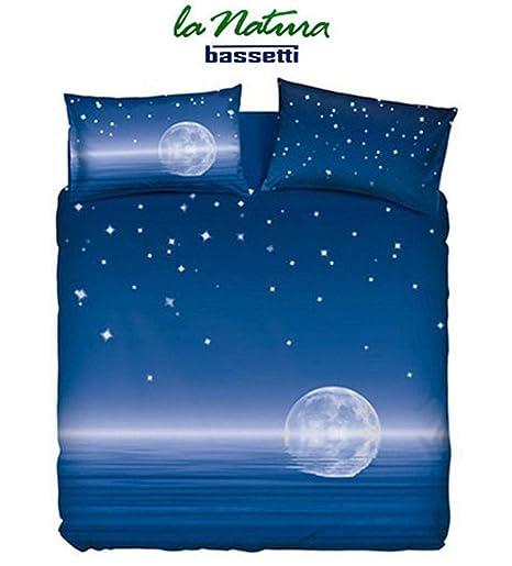 Copripiumino Bassetti Natura.Bassetti Imagine Set Copripiumino Magic Moon 155 X 200 Cm Blu