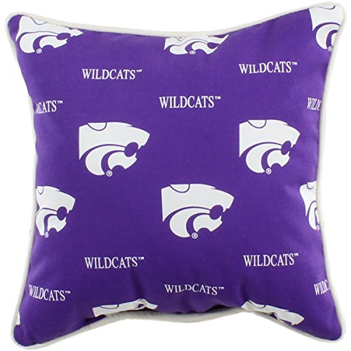 (College Covers Kansas State Wildcats Outdoor Decorative Throw Pillow, 16