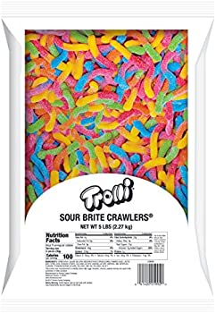 Trolli Large Sour Gummi Candy Worms Bag (5lb)