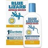 Facial Moisturizer Uva Uvb Protection - Blue Lizard Australian Sunscreen - Face Sunscreen SPF 30+ Broad Spectrum UVA/UVB Protection,5 oz Bottle