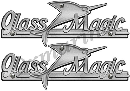 Restoration Decals (Two Glass Magic Boat Remastered Decals/Stickers for boat restoration project)