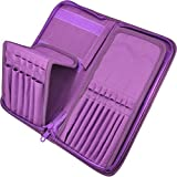 Paint Brush Holder - Organizer for 15 Short Handle Brushes - Storage for Acrylic, Oil & Watercolor Art Paintbrushes - Artists' Quality Supplies by MyArtscape™ (Royal Purple)
