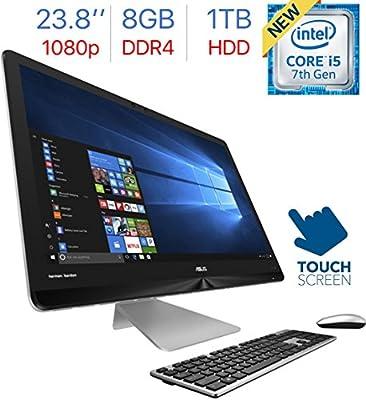 2017 Newest Asus Zen 23.8-inch FHD Touchscreen (1920x1080) All-in-One Desktop PC, Intel i5-7200u 2.5GHz Processor, 8GB DDR4 RAM, 1TB HDD, Intel HD Graphics 620, Bluetooth, HDMI, Windows 10-GRAY