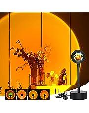 Sunset Lamp Zonsondergang Projectielamp Regenboog Zonsondergang Lamp 4 Kleuren Lamp Kinderkamer, Zonsondergang Lamp Decoratie, Golden Uur Lamp, Astrallicht, Sunset Aura Lamp Selfie Verlichting