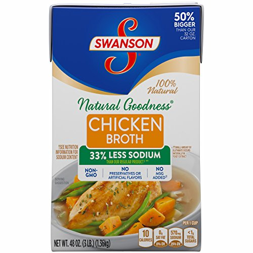 Swanson Natural Goodness Chicken Broth, 48 oz. Carton (Pack of 8)
