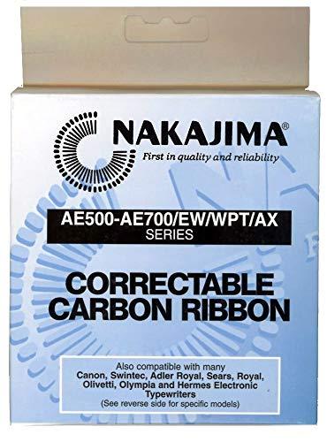 Standard Yield Correctable Carbon Film Typewriter Ribbon Cartridge. Genuine Nakajima Brand Ribbon.