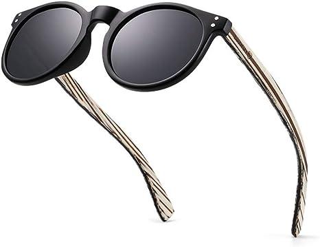 MYYINGELE Moda Gafas de Sol con Montura de Madera - Gafas de Sol para Hombre y Mujer con Estuche - Gafas de Sol con Montura de Madera Unisex, Mujer/Hombres, D: Amazon.es: Deportes