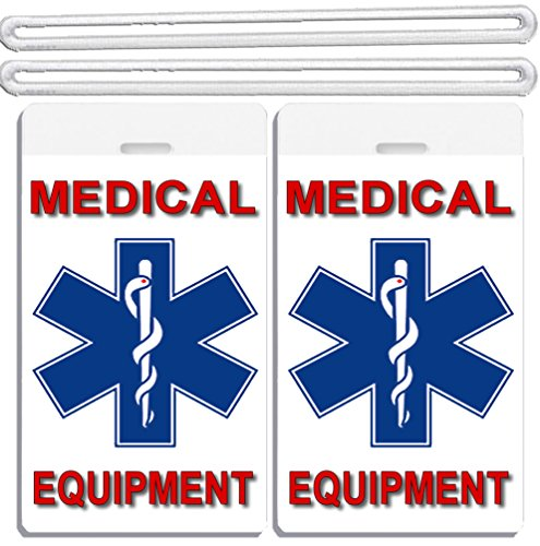2x Medical Cross In Middle Equipment ID Luggage Tags TSA Carry-On CPAP BiPAP Sleep APNEA POC