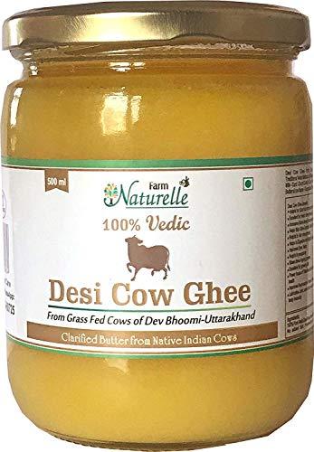 Farm Naturelle Desi Cow Ghee - 100% Pure From A2 Milk -500 ML (16.90oz) -  7108324851025