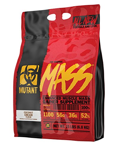 Mutant Mass – Award Winning Weight Gainer Featuring A 10 Whey, Casein, And Egg Protein Blend In Delicious Gourmet Flavors - Coconut Cream Flavor