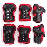 WONFAST 6 Pcs Kid's Skating Roller Wrist Elbow Knee