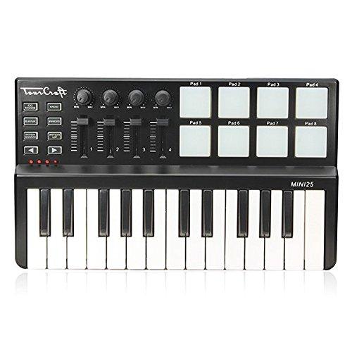 Tourcraft MINI 25 Keys Professional MIDI Keyboard Controller