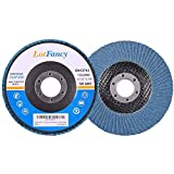 4.5 Inch 40/60/80/120 Grit Assorted Sanding Flap Discs by LotFancy Zirconia Alumina Abrasive Grinding Wheel Pack of 20 T27