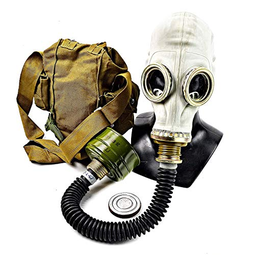 NKST Group Vintage Genuine Soviet Russian Gas mask GP-5 Post-Apocalyptic Cosplay Costume (Medium) Grey
