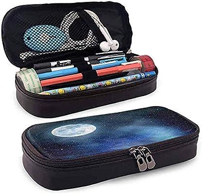 Estuche de lápices, Estuche de lápices, Estuche de lápices, Gran capacidad, Luna duradera, Cielo nocturno estrellado, Luna llena, 20 cm * 9 cm * 4 cm: Amazon.es: Oficina y papelería