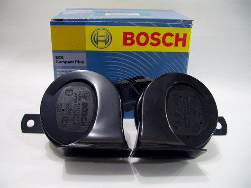 Bosch EC6 Compact Plus - 2 dual tone fanfare Car Horns 12V 400/500HZ 110DB