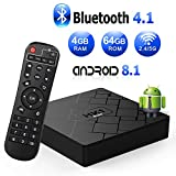 Android 8.1 TV Box with 4GB RAM 64GB ROM RK3328 Bluetooth 4.1 Quad-Core