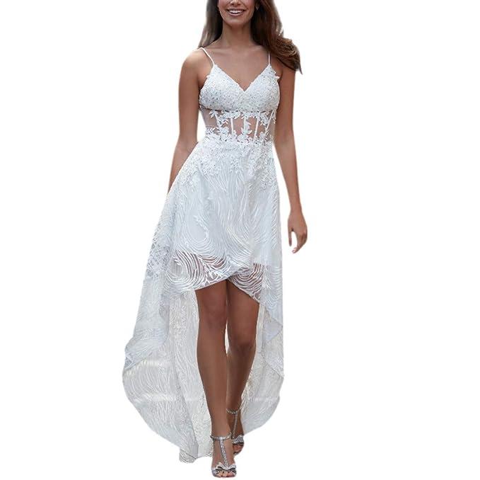 materiali di alta qualità aspetto elegante come trovare LMMET Vestiti Donna Nero Elegante Cerimonia Scollo v Pizzo ...