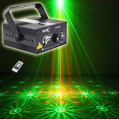SUNY Red Green Laser Blue LED 3 Len 16 Gobos Effect Profe...