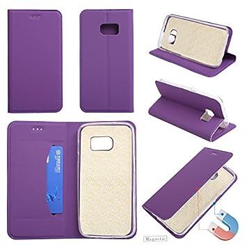 Lomogo Funda Galaxy S7, Funda de Cuero con Cartera para Tarjetas y Cierre Magnetico Soporte Plegable Carcasa Libro Antigolpes para Samsung Galaxy S7: ...