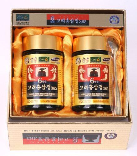 HongSamJeong 240g 8.5oz X 2ea, Korean 6years Root Red Ginseng Gold Extract, Saponin, Panax