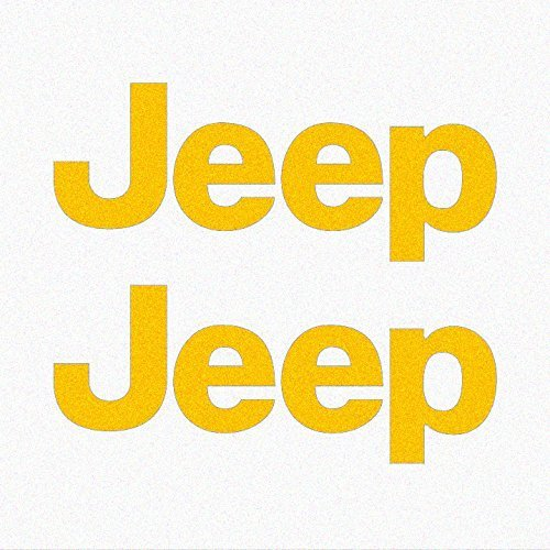 Yellow Decal Set - Jeep TJ Side Panel Logo Decal - Set of Two (Yellow - 021/Oracal 651)