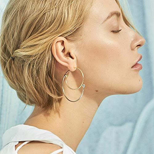 Couture Earrings Disney Plated Gold - Rhame Women Boho Gold Plated Geometric Dangle Drop Ear Stud Earrings Party Jewelry New | Model ERRNGS - 5679 |