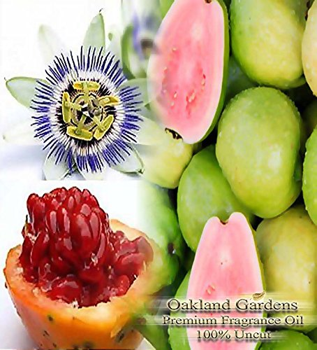 Passion Fruit Home Fragrance Oil - Passionfruit Guava Scented Fragrance Oil - Formulated to work with Reed Sticks & Diffuser - By Oakland Gardens (Passionfruit Guava - 4oz Bottle)