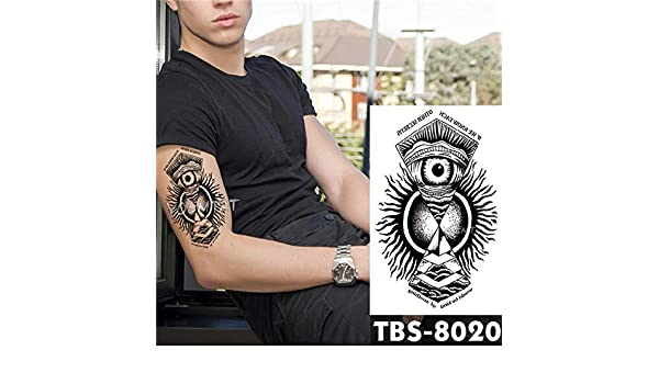 tzxdbh 5pcs de los Hombres de Impermeable Tatuaje Tatuaje Fire ...