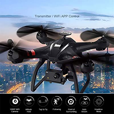 LSQR Mini Remote Control Drone Double GPS Professional Quadcopter WiFi FPV 1080P Wide Angle HD Camera with 3-Axis Gimbal Altitude Hold