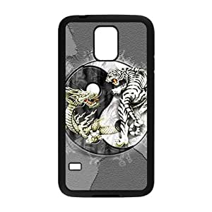 SANYISAN Tiger and lion deadly struggle Cell Phone Case for Samsung Galaxy S5