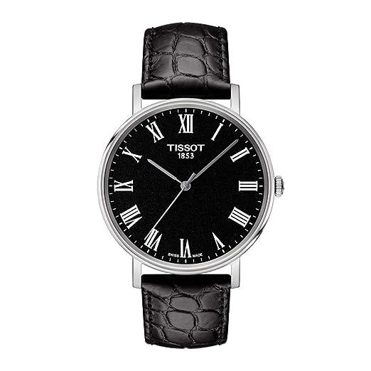 Tissot Reloj Analógico para Unisex Adultos de Cuarzo con Correa en Cuero T1094101605300: Amazon.es: Relojes