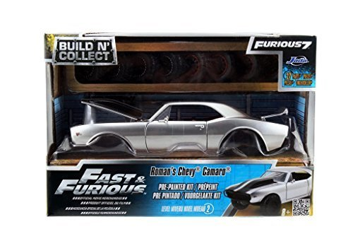 Fast Furious 7 Roman's Chevy Camaro Off Road 1:24 Scale Build N' Collect Modelkits (Black)