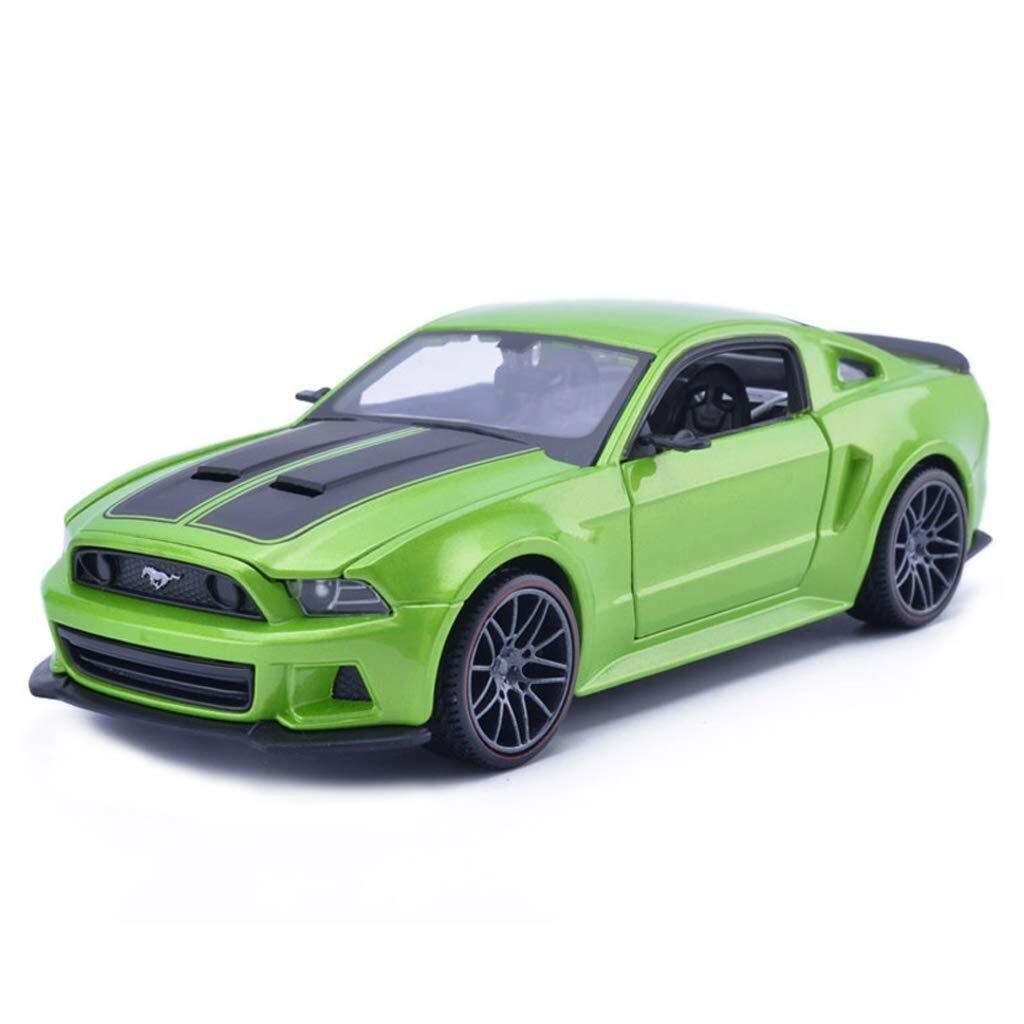 Entrega directa y rápida de fábrica verde LIULAOHAN Modelo de Coche de simulación, Mustang Mustang Mustang Boss 1 24 aleación proporcional Fundido a presión, Adecuado para Decoraciones para el hogar (Color   plata, Talla   20  8.7  6CM) 208.76CM  barato y de moda