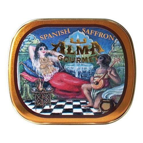 Alma Gourmet Spanish Saffron Tin 2 Gram