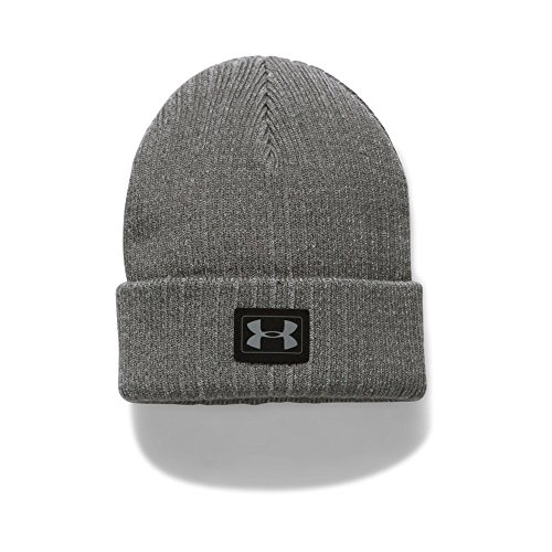 Under Armour Boys' Truck Stop Beanie, Steel/Black, One Size