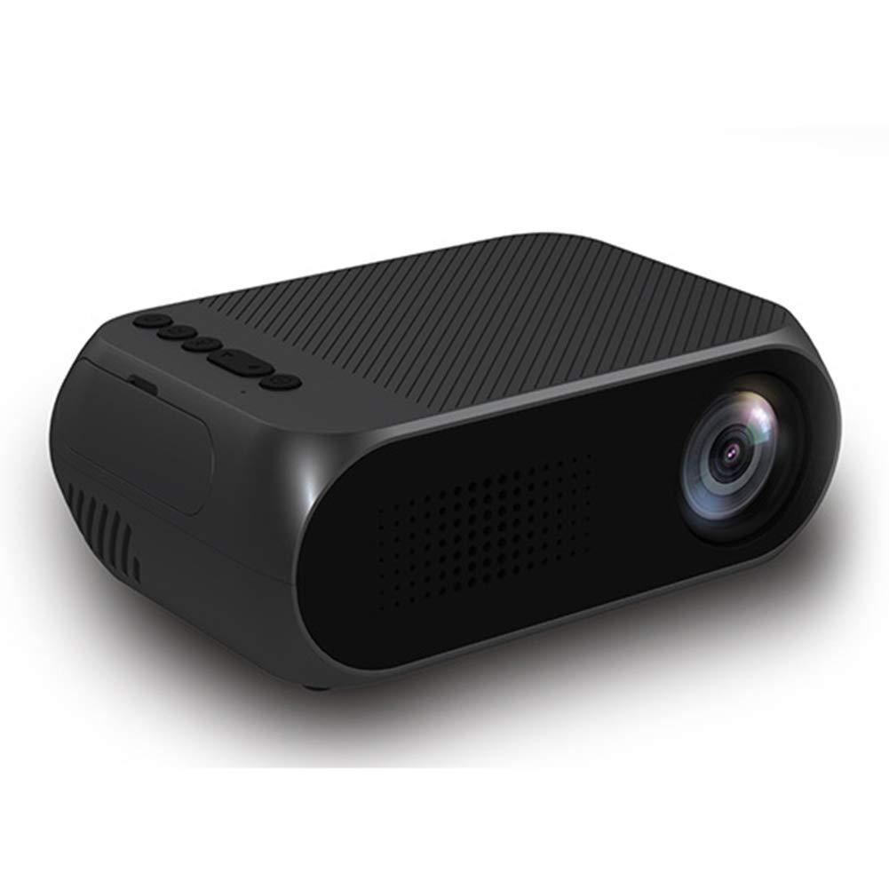ミニプロジェクター、LED ビデオプロジェクター、サポート1080p ポータブルマルチメディアプロジェクターホームシアターエンターテインメントゲームパーティーのための理想的な,Black B07P6GGXNP Black